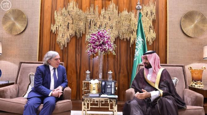 Его Высочество заместитель наследного принца провёл переговоры с министром энергетики США