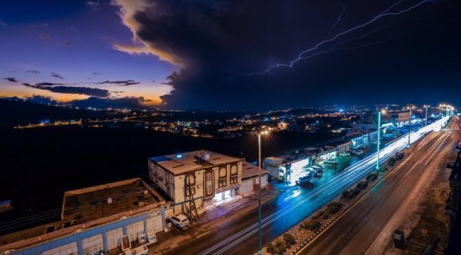 Дожди от слабых до умеренных прошли в провинции Баха