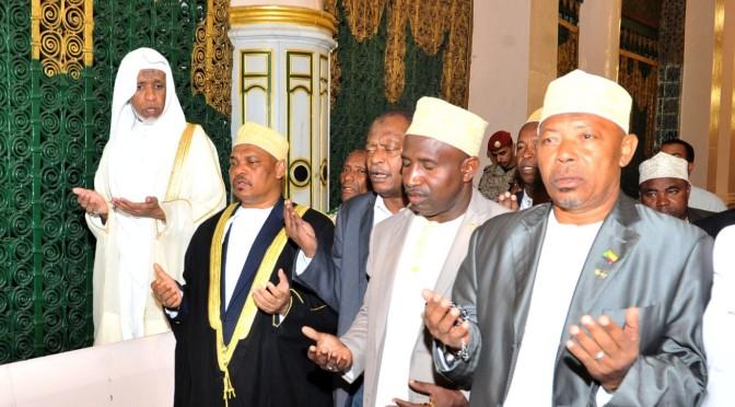Президент республики Союз Коморских островов посетил Мечеть Пророка