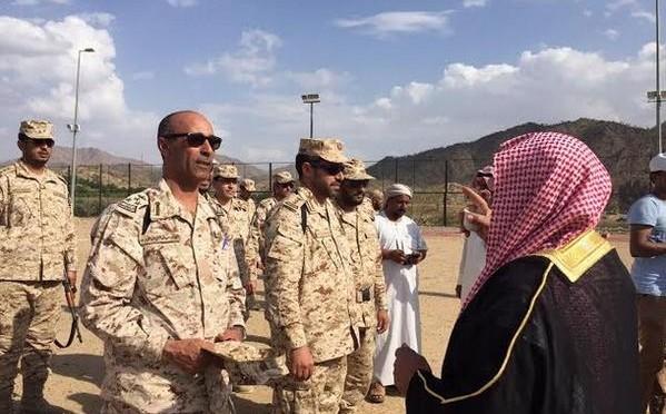 """Делегация племён """"ал Талид"""" посетила пограничников в  округе Рубуа провинции Асир"""