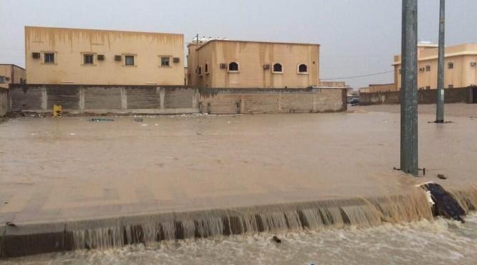 Проливные дожди в Хафра Батин и окрестностях