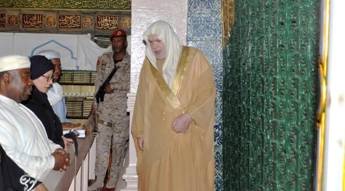 Президент республики Габон посетил Мечеть Пророка
