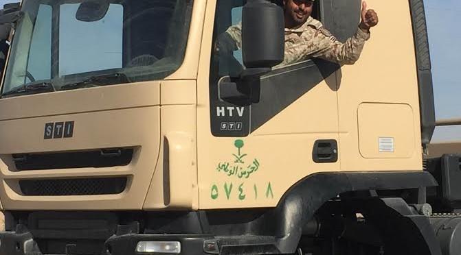 """Фотокорреспондент """"Сабк"""" запечатлел прибытие подкрепления сил Национальной гвардии в Наджран"""