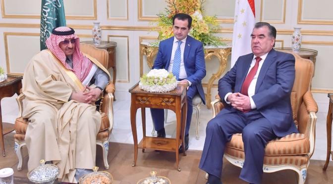 Его Высочество наследный принц обсудил с президентом Таджикистана пути укрепления двусторонних отношений обеих стран