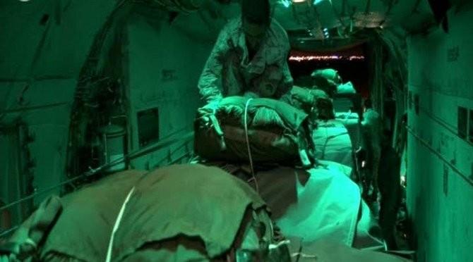Таиз: Центр гуманитарных операций им.Короля Салмана смог прорвать блокаду и сбросить в Таиз 40 тонн продовольствия