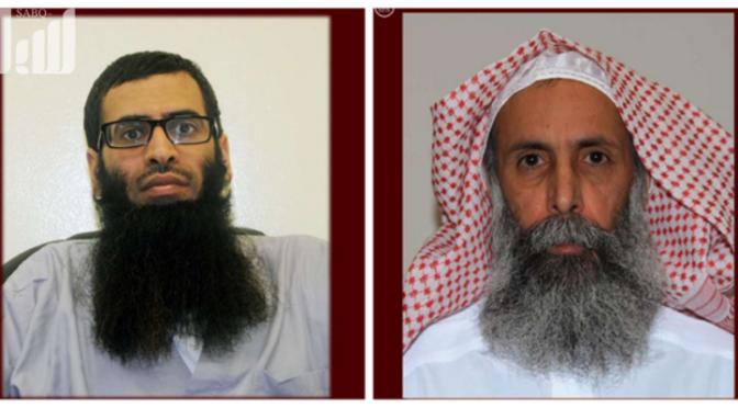 Суть публикации МВД фотографий казнённых преступников, представляя их без лакаба, а Нимр ан-Нимра — облачённым в шемаг