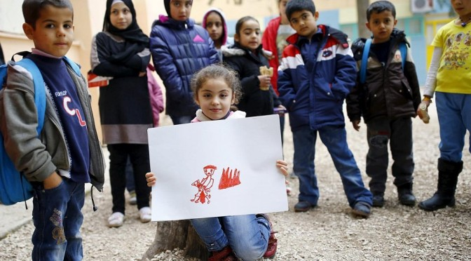 Сирийские дети рисуют свои мечты