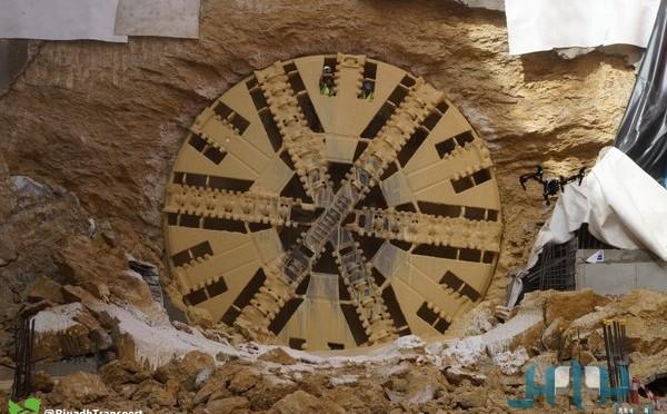 Гигантская землеройная машина «Джазла» завершила проходку тоннеля ко второй станции «оранжевой линии» метрополитена Эр-Рияда