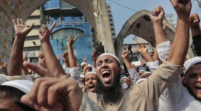 Протесты в Бангладеш  против попытки отмены законодательного установления Ислама государственной религией