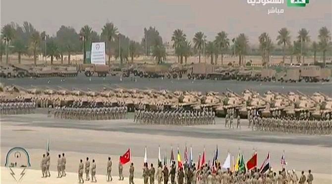 Служитель Двух Святынь принял военный парад сил, участвующих в маневрах «Северный гром»