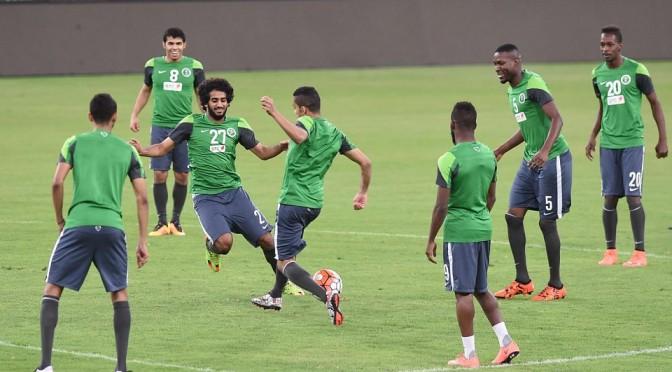 Тренировки перед матчем со сборной Малайзии