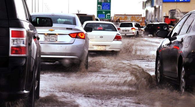 Дожди  в Эр-Рияде