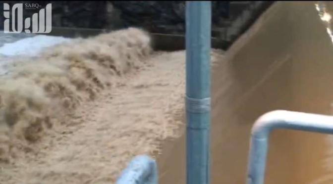 Затопление плотины Набхан в округе Муашука  провинции Баха по причине проливных дождей