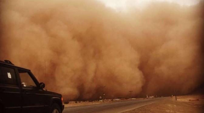 Песчанная буря прошла по провинции Касым и направляется к Эр-Рийяду