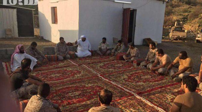 Что сказал проповедник аль-Биши после посещения солдат на южной границе?