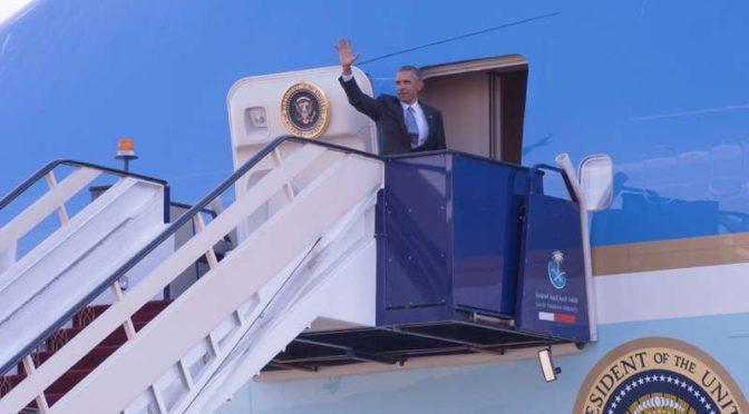 После посещения Королевства президент США покинул Эр-Рияд
