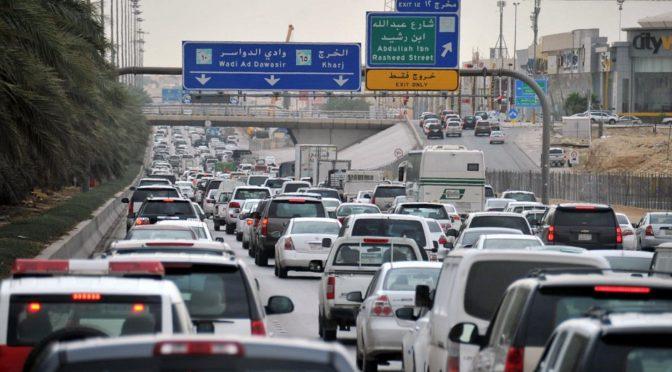 Пробки на дорогах, в которых задыхается Эр-Рияд