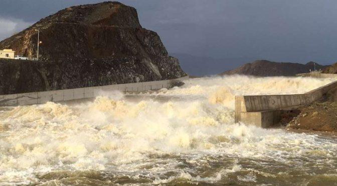 Затопление плотины Ахсаба в округе Махва в следствии дождей