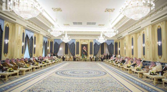 Во дворце ас-Салам в Джидде … Служитель Двух Святынь принял принцев и группу подданных