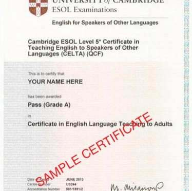 Университет Таифа получил официальную кембриджскую  лицензию на обучение английскому языку с выдачей сертификата CELTA