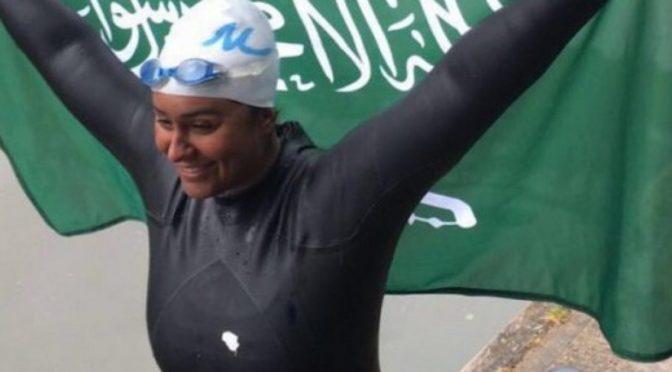 Саудийка Марьям бин Ладен — первая женщина в мире, проплывшая более 100 миль по реке Темза