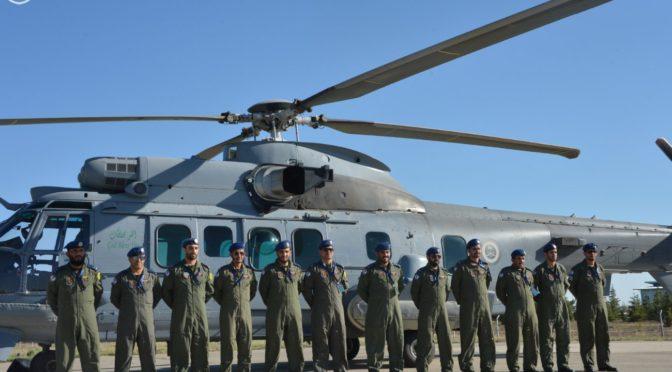 Прибытие на авиабазу в Конья в Турции  вертолётов «Cougar» («Пума»), принимающих участие в учениях «Свет — 2016».