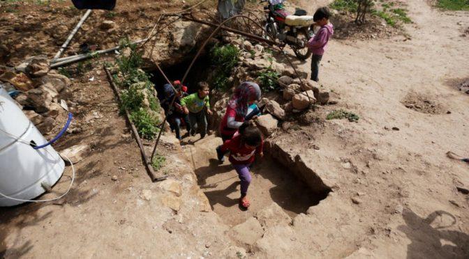 Школа в пещере в Сирии