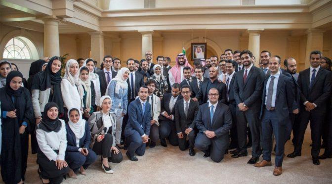 Заместитель наследного принца встретился с саудийскими студентами, обучающимися в США