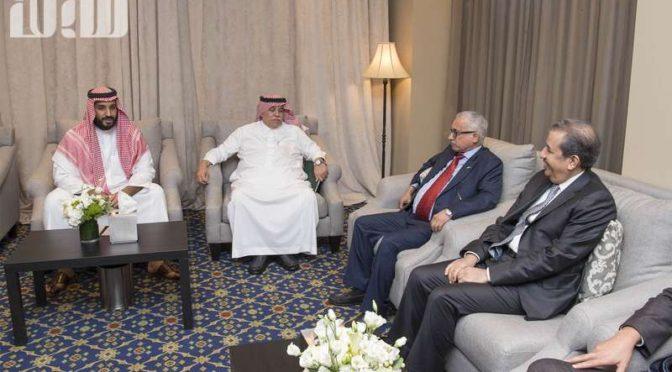 Заместитель наследного принца встретился с группой саудийских бизнесменов в Нью-Йорке