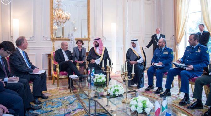 Его Высочество заместитель наследного принца встретился с министром иностранных дел Франции