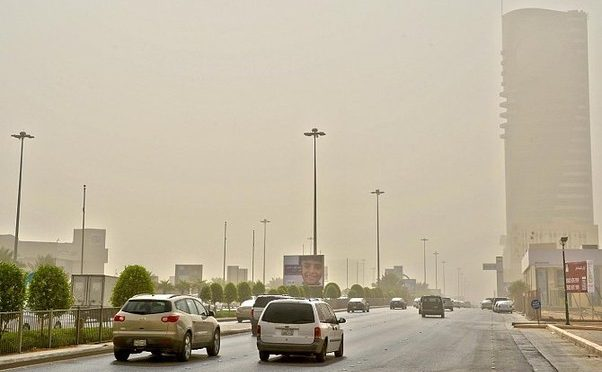 Пылевой смог над провинцией Эр-Рияд