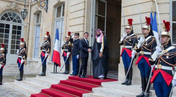 Заместитель наследного принца во время визита во Францию