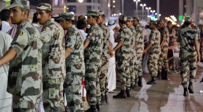 Силы быстрого реагирования облегчают передвижение толп посетителей в Мечети Пророка
