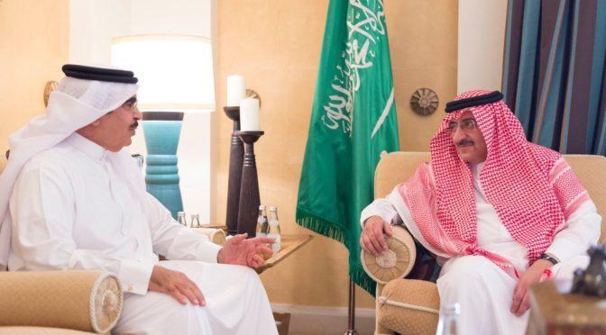 Его Высочество наследный принц обсудил с министром внутренних дел Бахрейна братские отношения между двумя странами и пути их укрепления