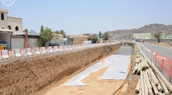 Муниципалитет Наджрана на 25% выполнил проект по устранению опасных селевых потоков и оборудованию ливнёвой канализации