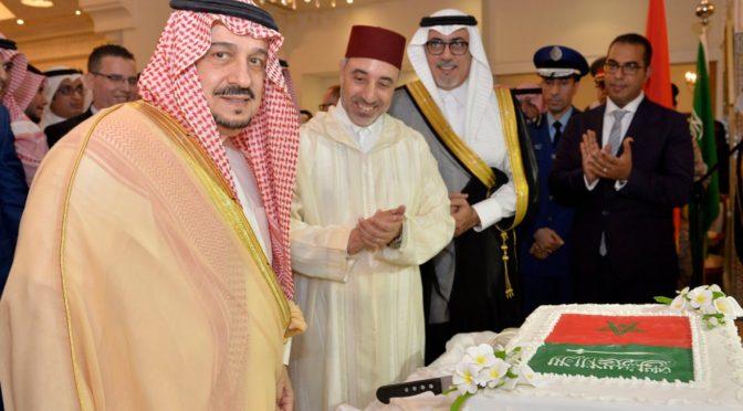 Губернатор провинции Эр-Рияд посетил праздничную церемонию в посольстве Марокко