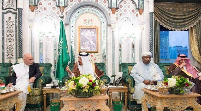 Служитель Двух Святынь принял президента Афганистана, президента Габона и экс-премьер-министра Ливана