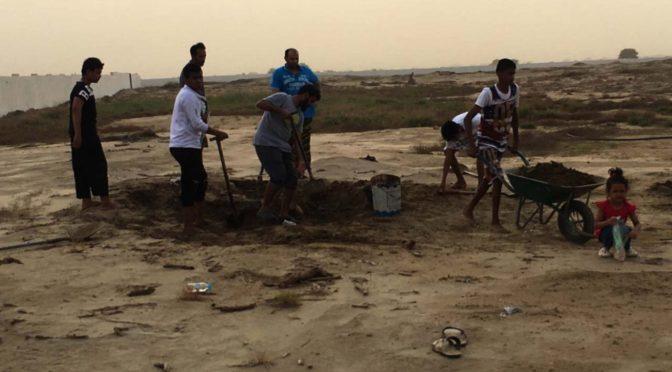 Более 40 юношей приняли участие в уборке могил в селении аль-Асла