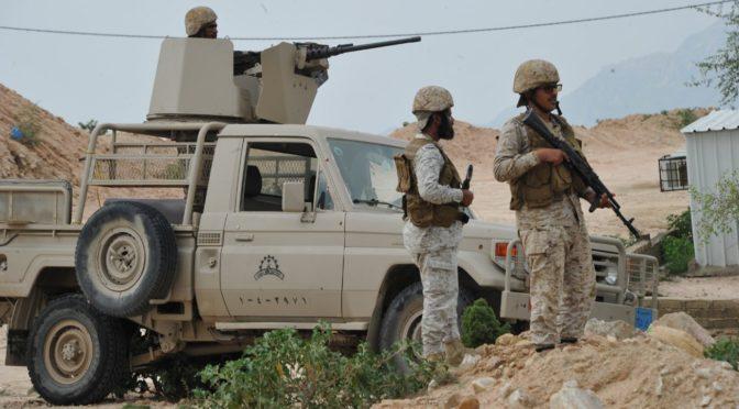 Фотокорреспондент Новостного агентства запечатлел работу наших героев-солдат Вооружённых сил на переднем крае обороны на границе Королевства