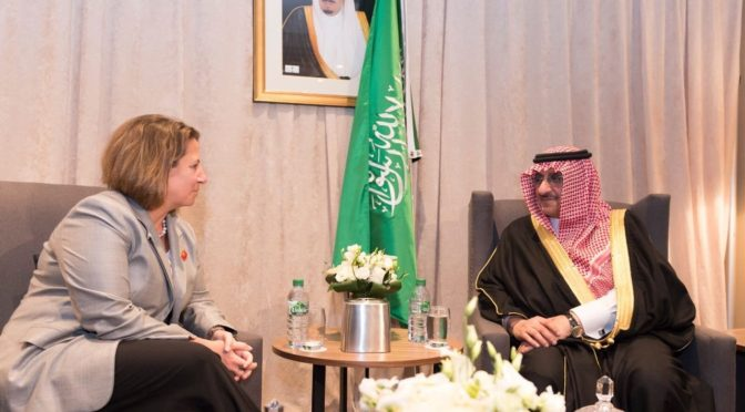 Его Высочество наследный принц обсудил с  советниковм президента США по вопросам национальной безопасности углубление сотрудничества двух стран в борьбе с терроризмом