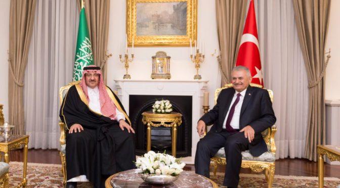 Его Высочество наследный принц провёл двустроннюю встречу с премьер-министром Турции