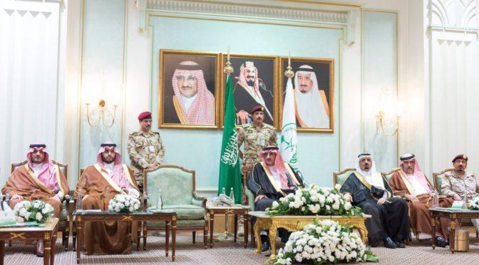 Его Высочество наследный принц принял командующих и руководителей военных подразделений и сил безопасности, участвующих в работе в сезон Хаджа этого года