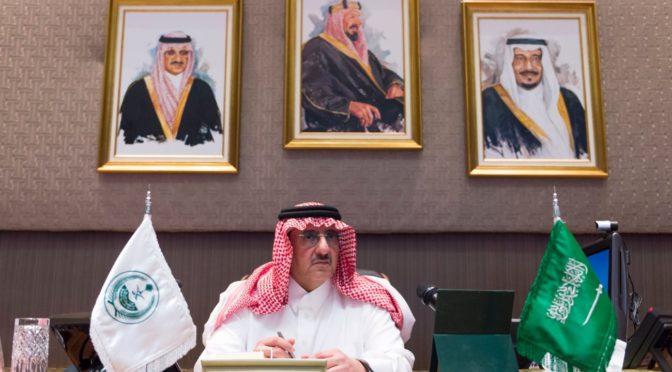 Его Высочество наследный принц торжественно открыл волоконно-оптическую сеть в г.Эр-Рияд и местах паломничества, сопряжённую с сетью видеокамер наблюдения высокого разрешения