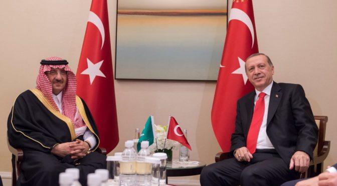 Его Высочество заместитель наследного принца обсудил двусторонние отношения и ситуацию на Среднем Востоке с президентом Турции