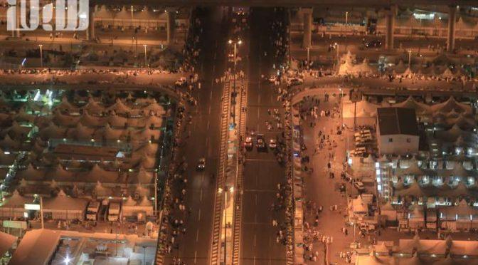 Фотокорреспондент «Сабк» совершил воздушную фотоэкскурсию над Миной и Запретной Мечетью в первый день Ташрика