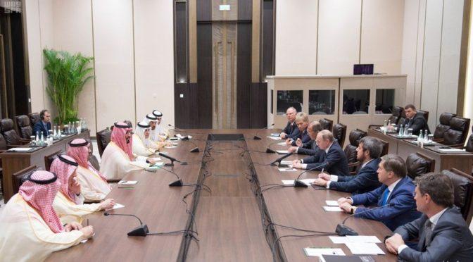 Заместитель наследного принца встретился с президентом Российской федерации на полях саммита G20