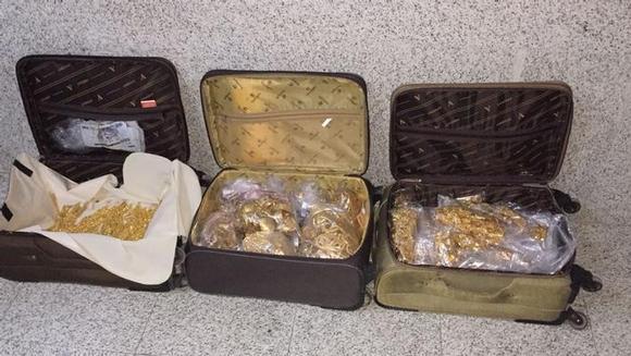 Мекка … Дорожная полиция пресекла попытку контрабанды 35 кг золота в багаже подданного