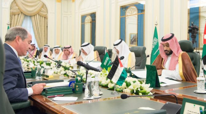 Его Высочество заместитель наследного принца принял премьер-министра Иордании