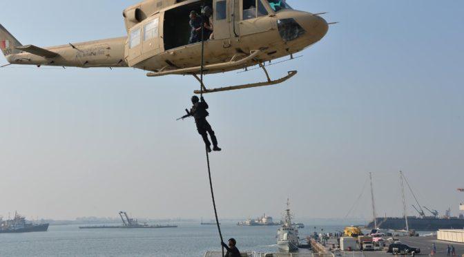 Учения «Мост 17», проводимые ВМФ Саудии и Бахрейна завершились маневрами с использованием боевых патронов, отработкой десантирования и вторжения
