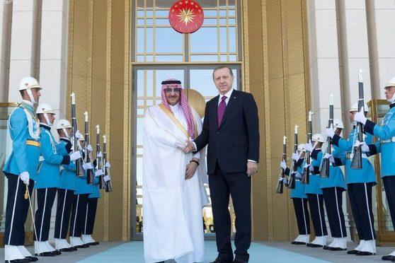 Р.Т.Эрдоган принял Его Высочество наследного принца и провёл с ним встречу